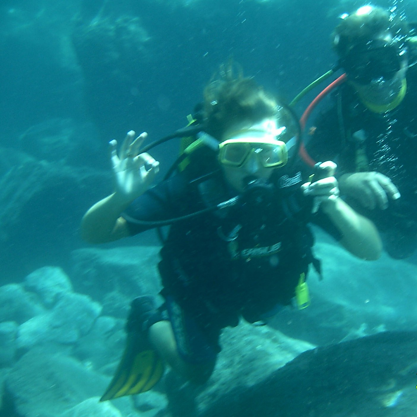 Deep in the ocean!